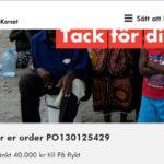 Vi skänker 40 000 kronor till flyktingkatastrofen.