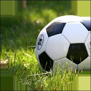 Fotboll på gräsmatta, symbol för erfarenheter och kompetens från föreningsliv som du kan ta upp under en jobbintervju