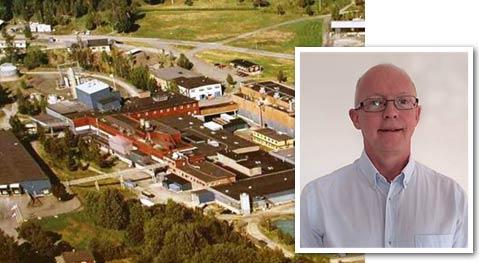 Olof Nilsson är platschef på Ahlstrom-Munksjös