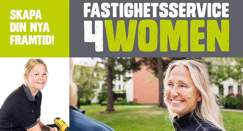 Fastighetsservice4women – ett jämställdhetsinitiativ där vi utbildar morgondagens kvinnliga fastighetsskötare.