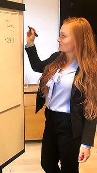 Via TNG hittade Darja jobb som ekonom på SkySparc direkt efter sin utbildning