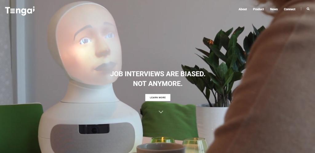 Intervjuroboten Tengai har fått sin egen hemsida