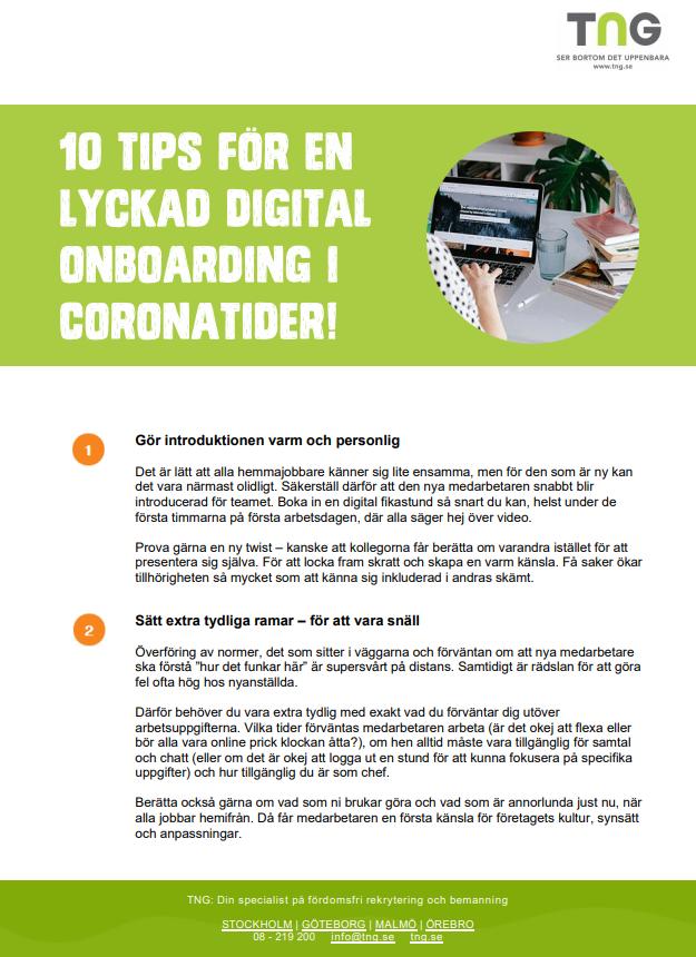 Remote onboarding - guide för chefer och HR