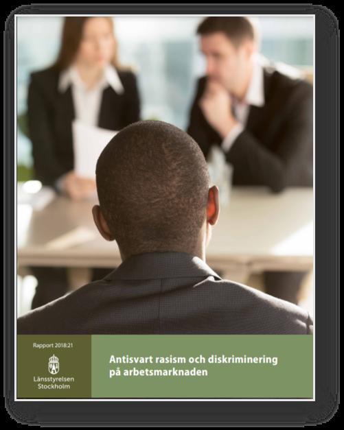 rapport bild antisvart rasism och diskriminering på arbetsplatsen