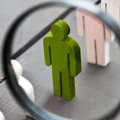 grön figur metafor objektiv rekrytering kandidat