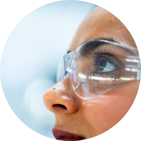 cleachtech specialist laboriatorium skyddsglasögon cirkel