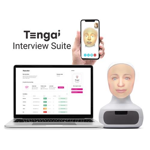 Tengais olika intervjulösningar sker via mobiltelefon eller en fysisk robot