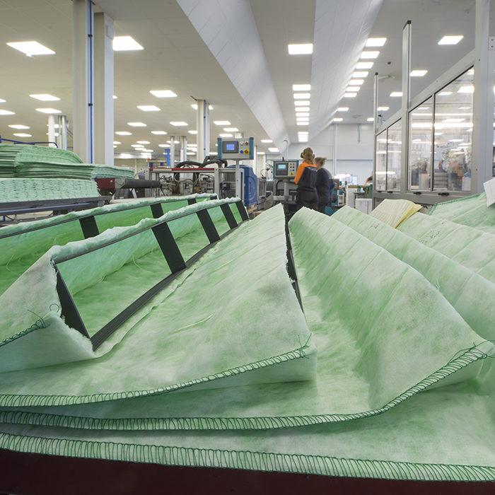 tillverkning camfil cleantech fabrik