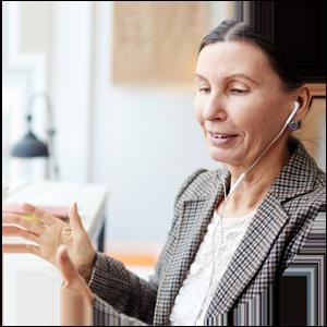 lönesamtal förhandling lön argumentation samtal hörlurar resultat kvinna